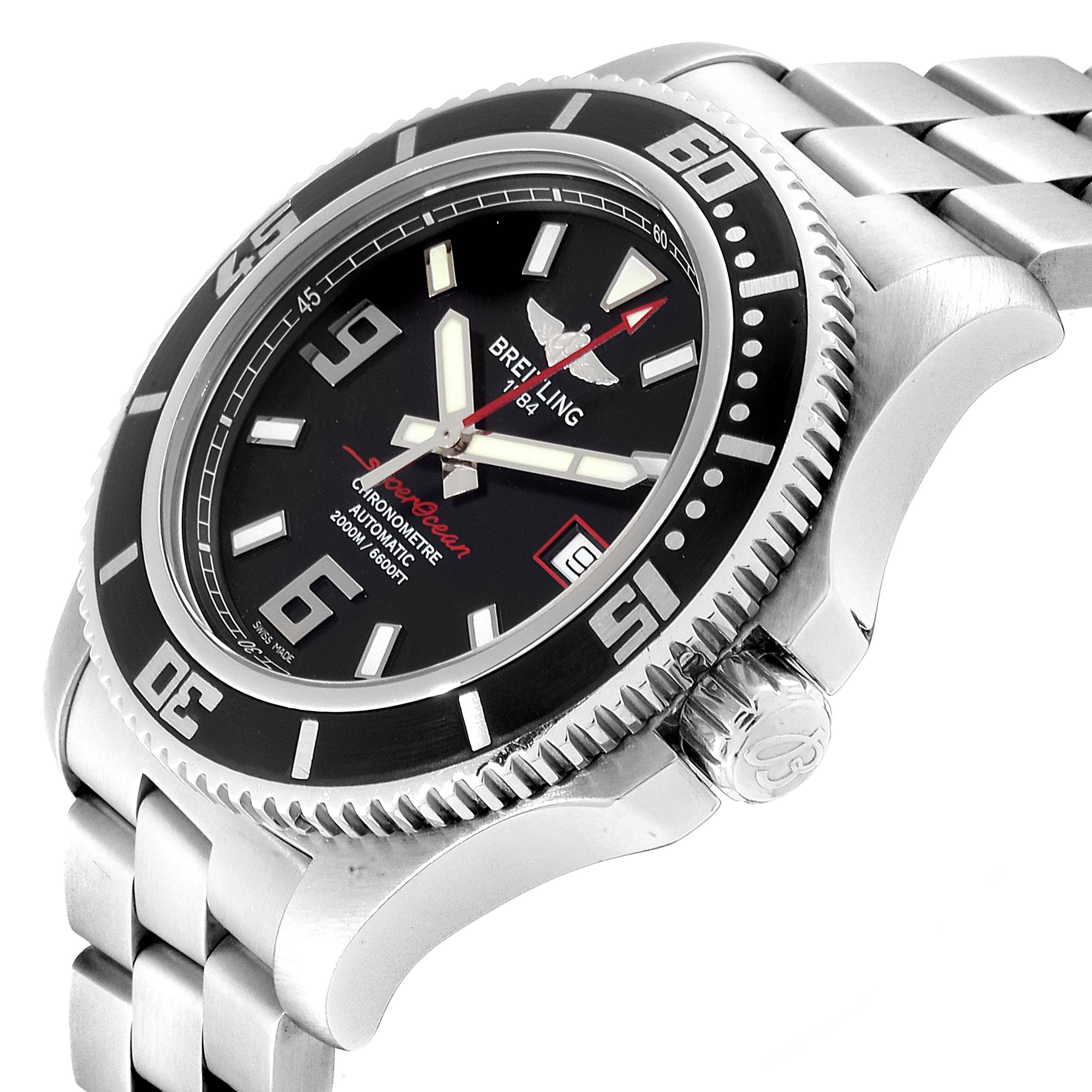 Breitling Aeromarine Superocean 44 Red Hand Watch A17391 Box SwissWatchExpo
