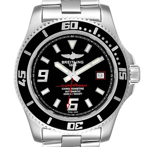 Photo of Breitling Aeromarine Superocean 44 Red Hand Watch A17391 Box