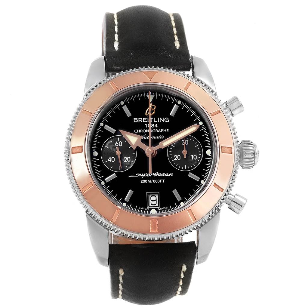 21365 Breitling SuperOcean Heritage 44 Steel Rose Gold Watch U23370 SwissWatchExpo