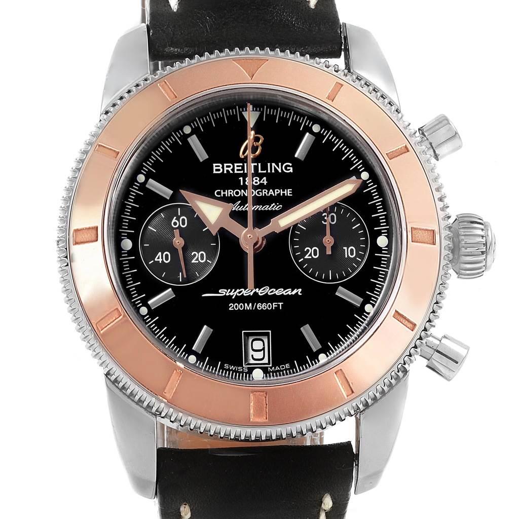 Breitling SuperOcean Heritage 44 Steel Rose Gold Watch U23370 SwissWatchExpo