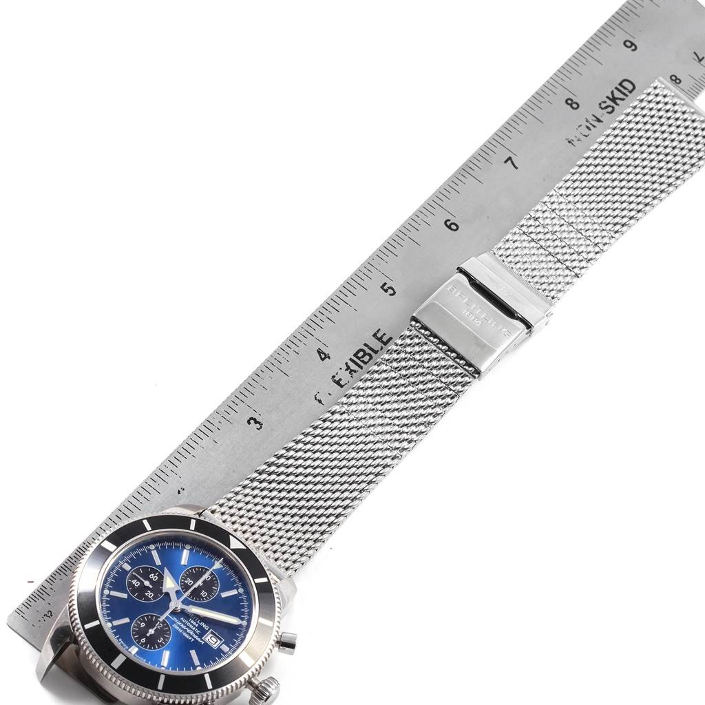 21364 Breitling SuperOcean Heritage Chronograph 46 Blue Dial Watch A13320 SwissWatchExpo