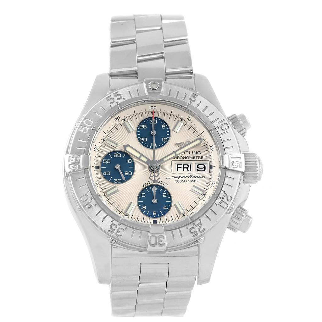 21396 Breitling Aeromarine Superocean Chronograph Watch A13340 Box Papers SwissWatchExpo