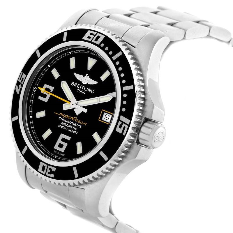 Breitling Aeromarine Superocean 44 Yellow Hand Watch A17391 Box Papers SwissWatchExpo