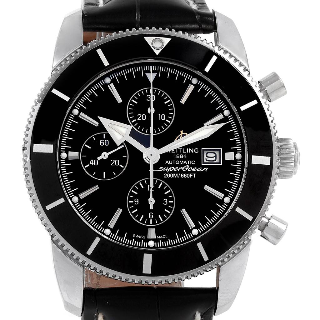 Breitling SuperOcean Heritage II Chrono 46 Watch A13312 Box Papers SwissWatchExpo