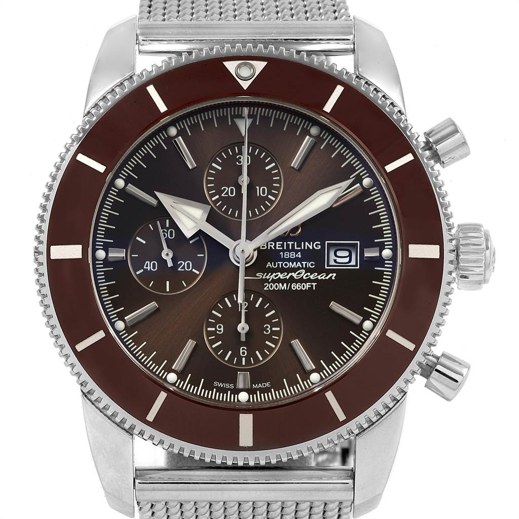 21463 Breitling SuperOcean Heritage II Chrono 46 Watch A13312 Box Papers SwissWatchExpo