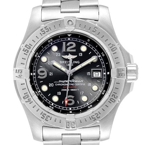 Photo of Breitling Aeromarine Superocean Steelfish Mens Watch A17390 Papers