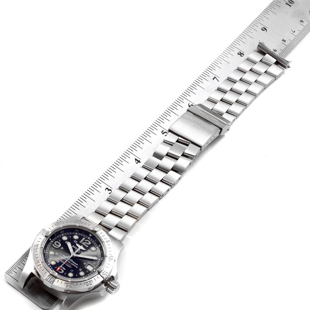21746 Breitling Aeromarine Superocean Steelfish Mens Watch A17390 Papers SwissWatchExpo