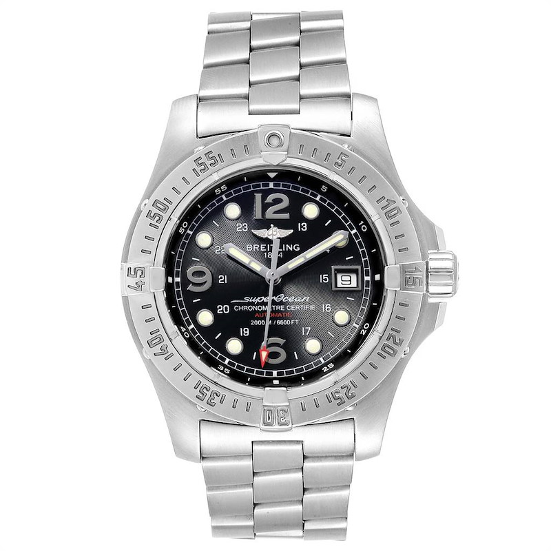 Breitling Aeromarine Superocean Steelfish Mens Watch A17390 Papers SwissWatchExpo