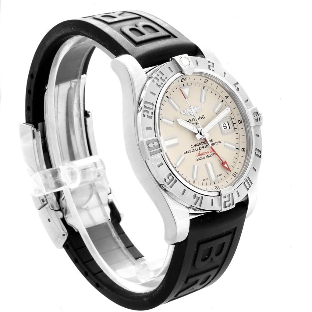 21977 Breitling Aeromarine Avenger II GMT Cream Dial Watch A32390 SwissWatchExpo
