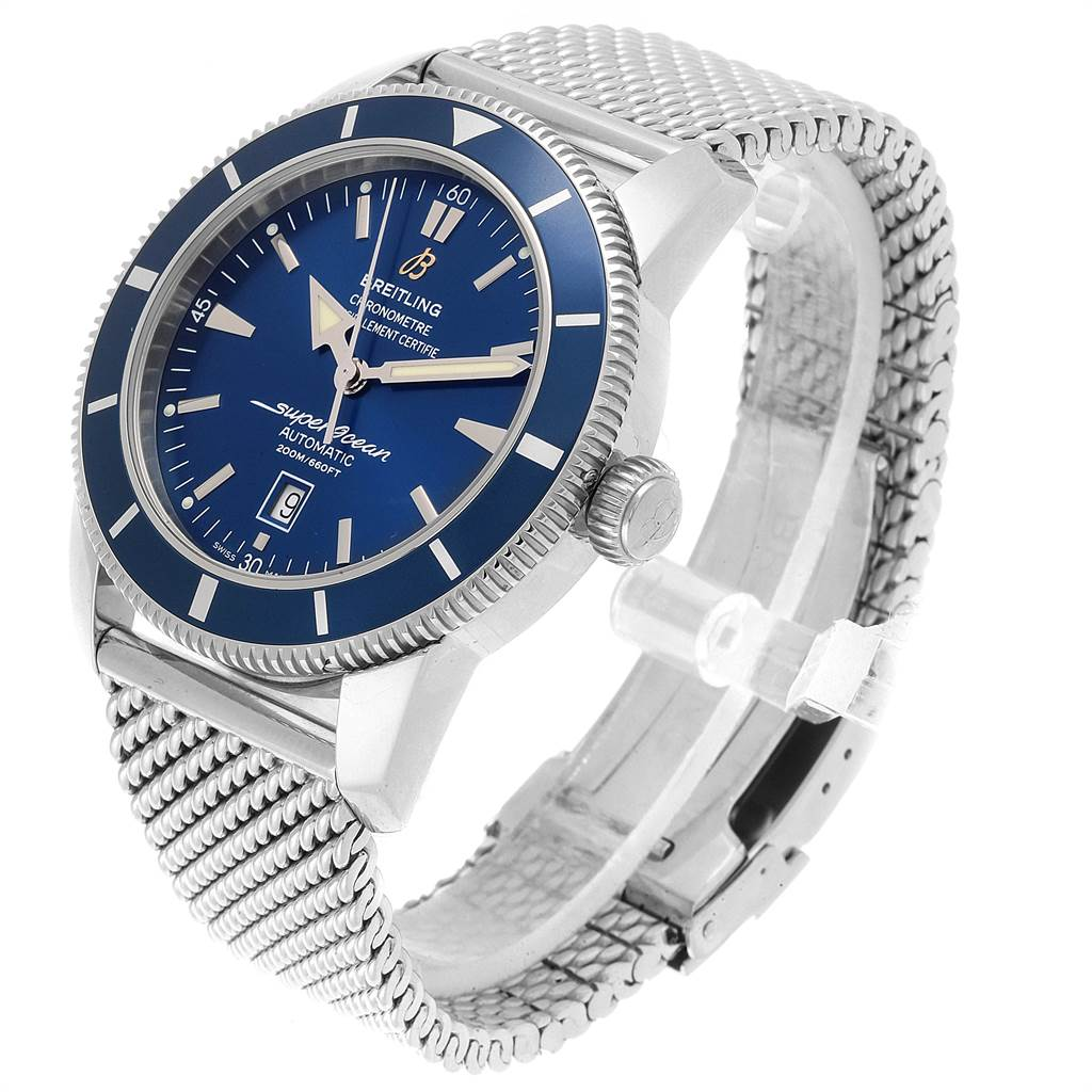 22018 Breitling Superocean Heritage 46 Mesh Bracelet Watch A17320 Box Papers SwissWatchExpo