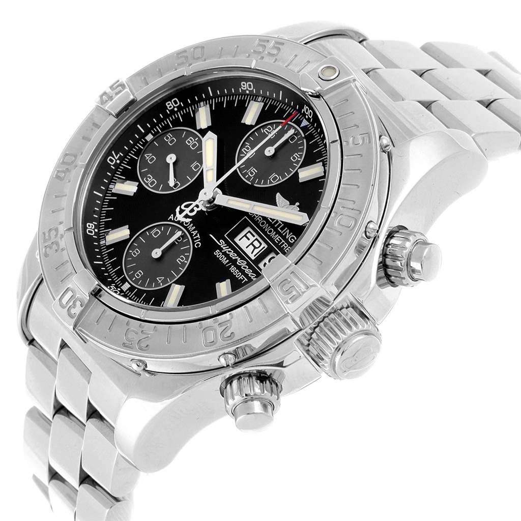 22013 Breitling Aeromarine Superocean 42 Automatic Steel Mens Watch A13340 SwissWatchExpo