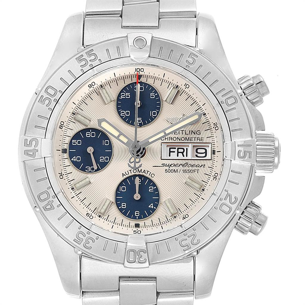 22012 Breitling Aeromarine Superocean Chronograph Watch A13340 Box Papers SwissWatchExpo