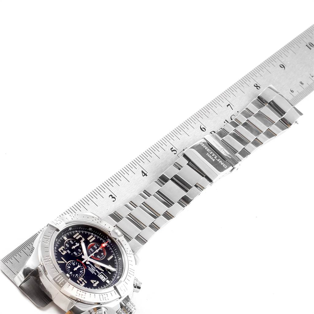 22076 Breitling Aeromarine Super Avenger Steel Mens Watch A13371 Box Papers SwissWatchExpo