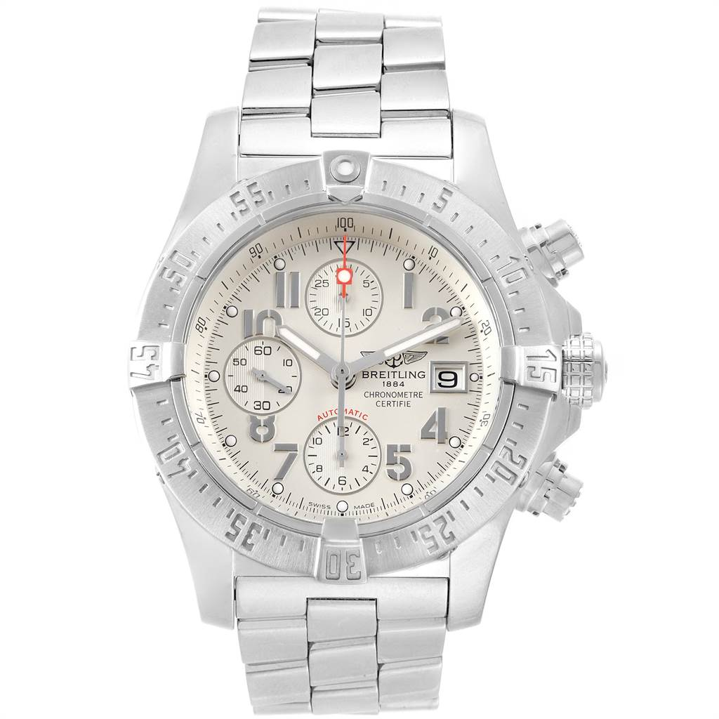 22077 Breitling Aeromarine Avenger Skyland Mens Watch A13380 Box Papers SwissWatchExpo