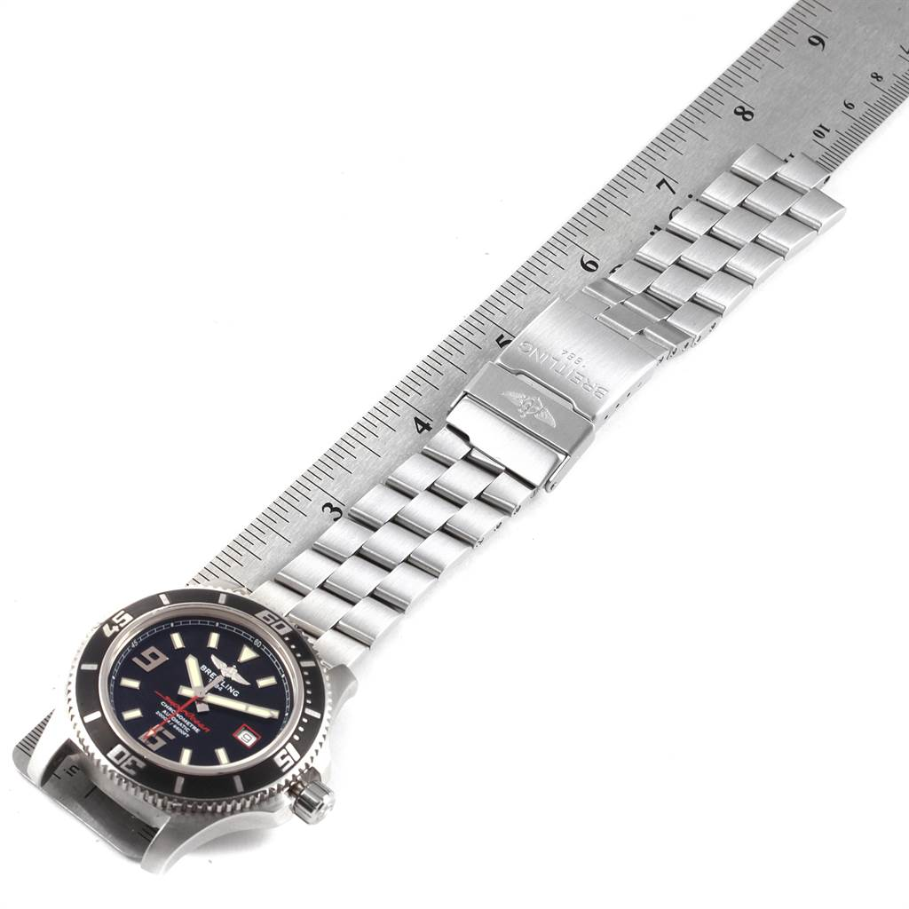 21742 Breitling Aeromarine Superocean 44 Red Hand Mens Watch A17391 Box Papers SwissWatchExpo