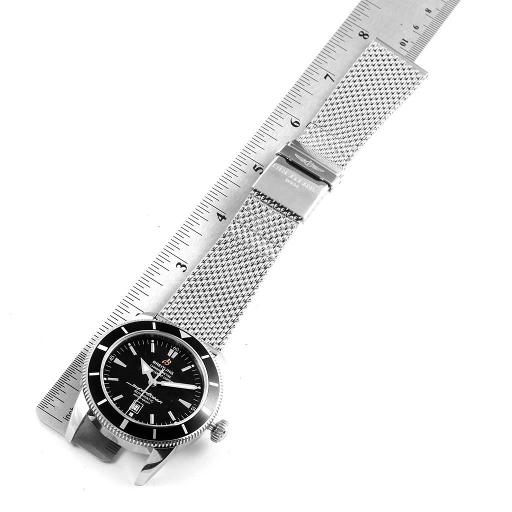 22233 Breitling Superocean Heritage 46mm Black Dial Steel Mens Watch A17320 SwissWatchExpo