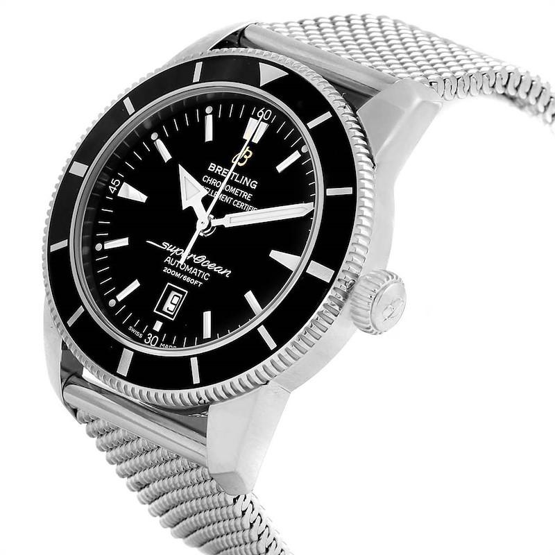Breitling Superocean Heritage 46mm Black Dial Steel Mens Watch A17320 SwissWatchExpo