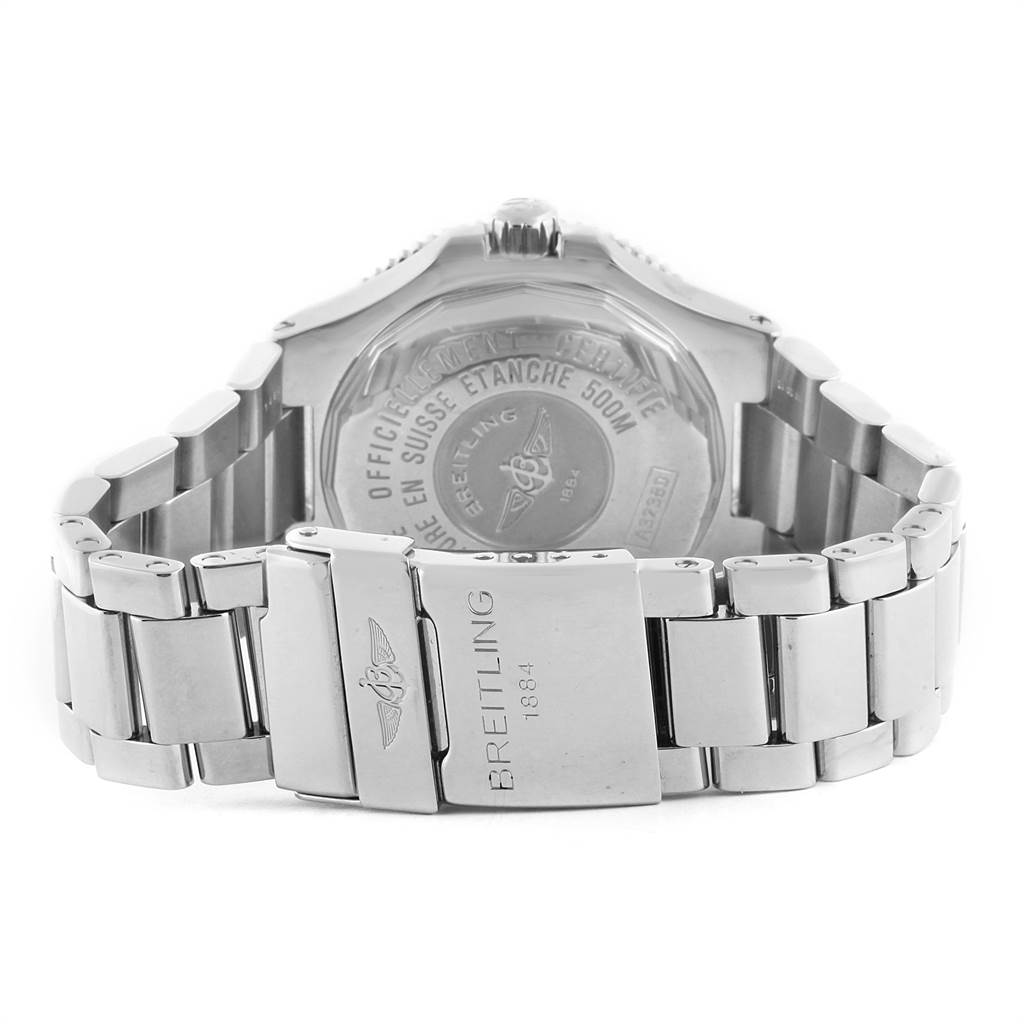 Breitling Aeromarine Superocean GMT Black Dial Mens Watch A32380 SwissWatchExpo