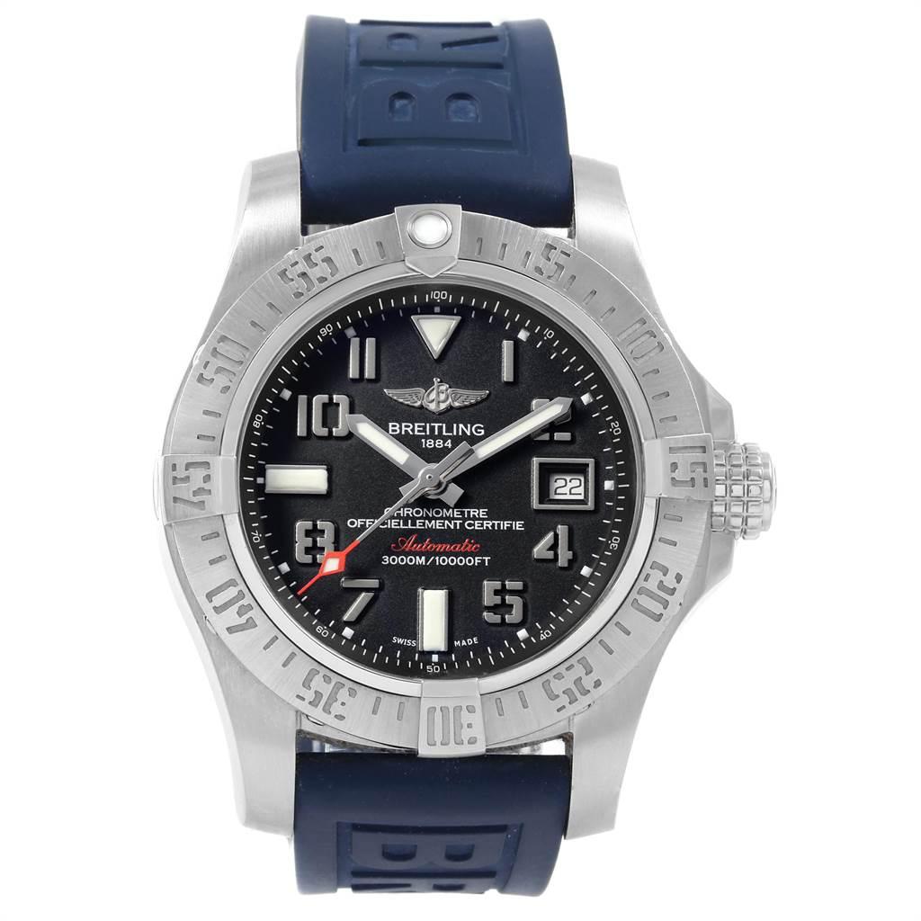 22088 Breitling Aeromarine Avenger II Seawolf Watch A17331 Mens Box Papers SwissWatchExpo