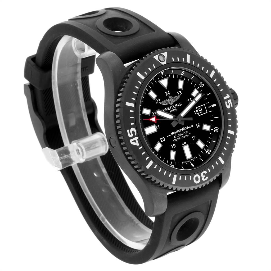 Breitling Superocean 44 Special Blacksteel Mens Watch M17393 Box Papers SwissWatchExpo