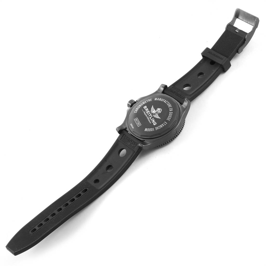 22095 Breitling Superocean 44 Special Blacksteel Mens Watch M17393 Box Papers SwissWatchExpo