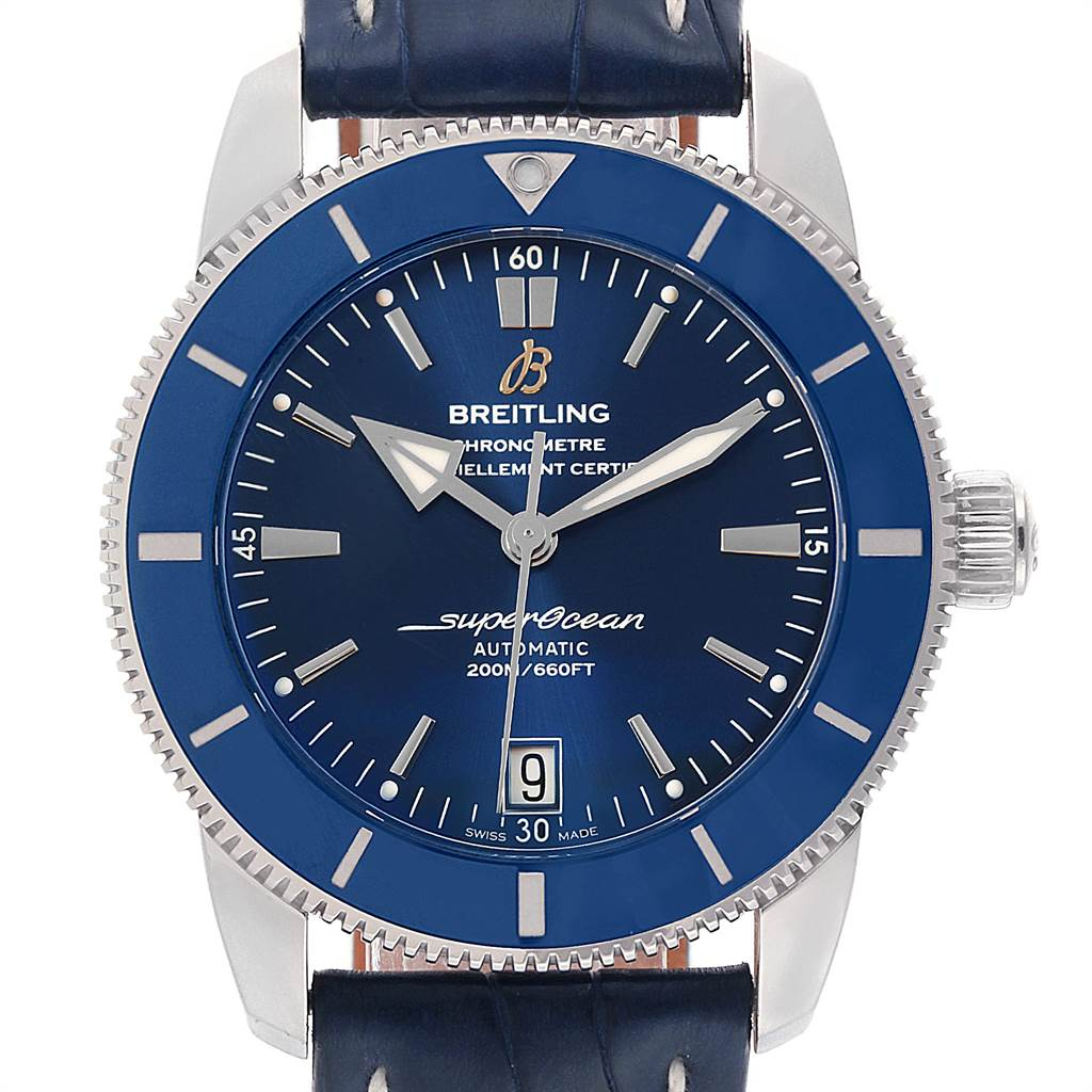 22408 Breitling Superocean Heritage II 42 Steel Mens Watch AB2010 Box Papers SwissWatchExpo