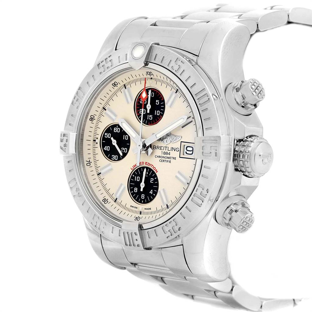 22506 Breitling Avenger II Chronograph Mens Watch A13381 Box Papers SwissWatchExpo
