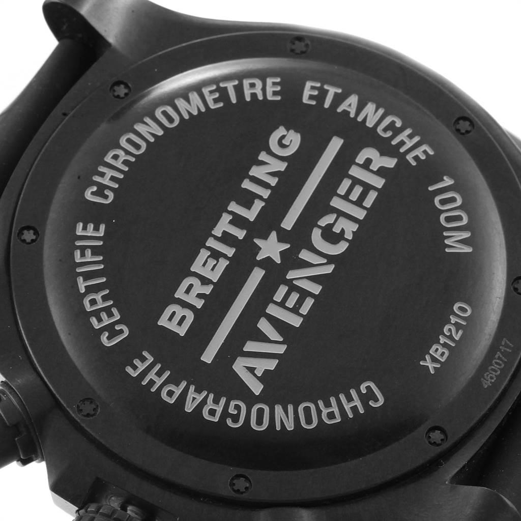 22584 Breitling Avenger Hurricane 50 Breitlight Mens Watch XB1210 Box Card SwissWatchExpo