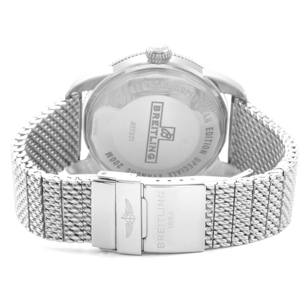 22870 Breitling Superocean Heritage 42 Mesh Bracelet Steel Mens Watch A17321 SwissWatchExpo