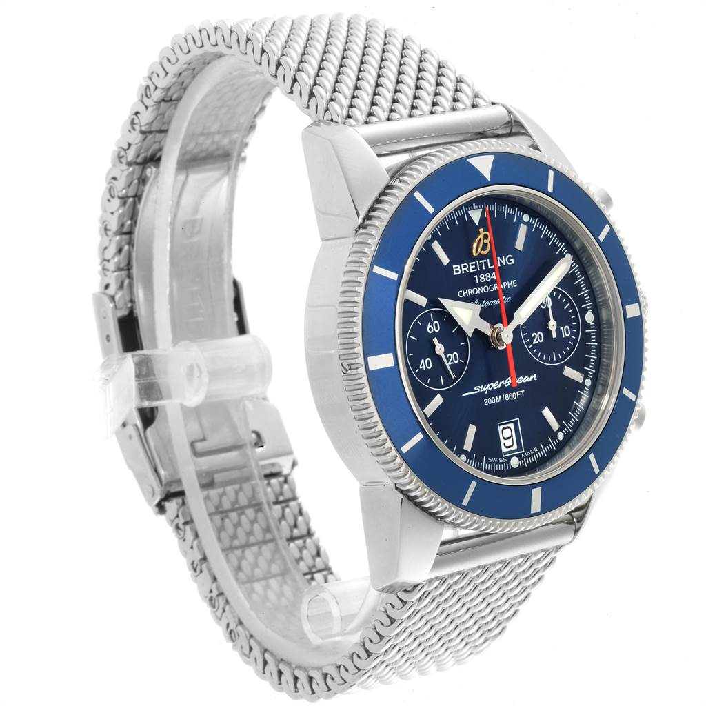 22788 Breitling SuperOcean Heritage 44 Blue Dial Chronograph Watch A23370 SwissWatchExpo
