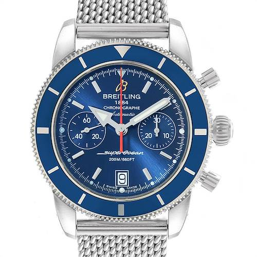Photo of Breitling SuperOcean Heritage 44 Blue Dial Chronograph Watch A23370