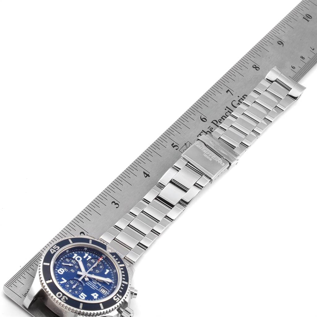 Breitling Superocean Chronograph 42 Blue Dial Mens Watch A13311 SwissWatchExpo