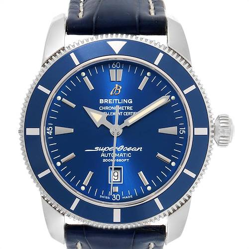 Photo of Breitling Superocean Heritage 46 Blue Dial Leather Strap Watch A17320