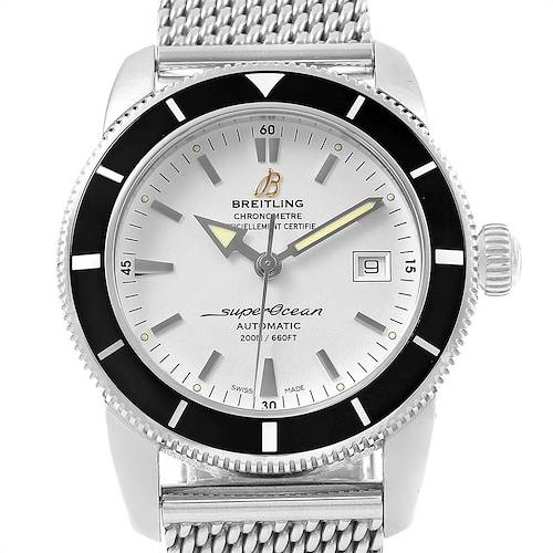 Photo of Breitling Superocean Heritage 42 Silver Dial Steel Mens Watch A17321