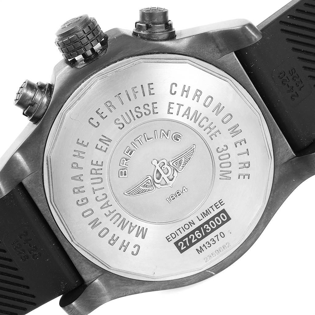 23651 Breitling Aeromarine Avenger Skyland Blacksteel Limited Watch M13370 SwissWatchExpo