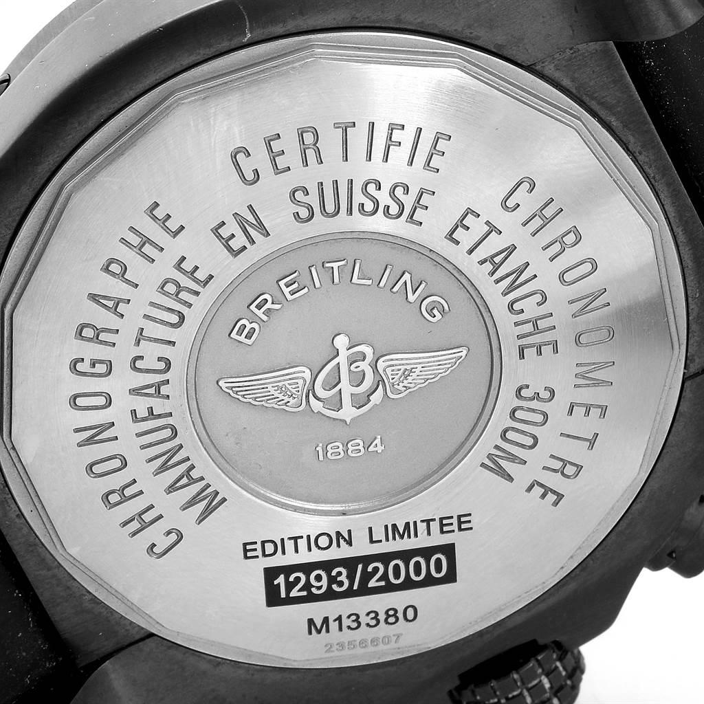 23588 Breitling Aeromarine Avenger Skyland Blacksteel LE Mens Watch M13380 SwissWatchExpo