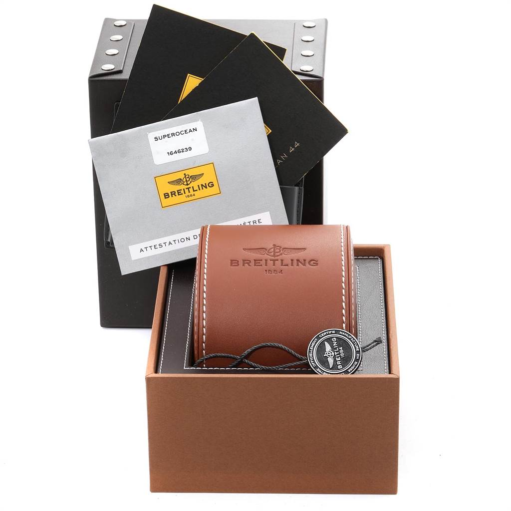Breitling Superocean 44 Steel Rose Gold Mens Watch C17391 Box Papers SwissWatchExpo