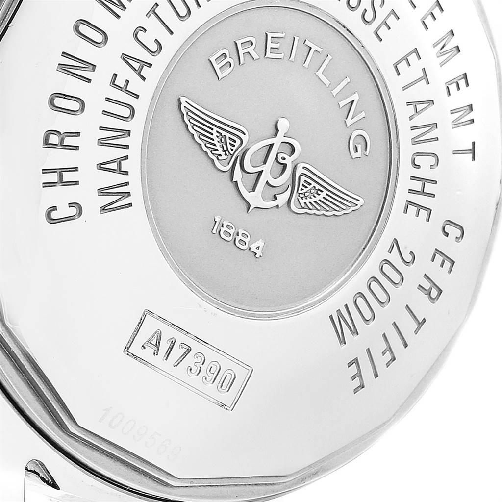 23650 Breitling Aeromarine Superocean Steelfish Black Dial Mens Watch A17390 SwissWatchExpo
