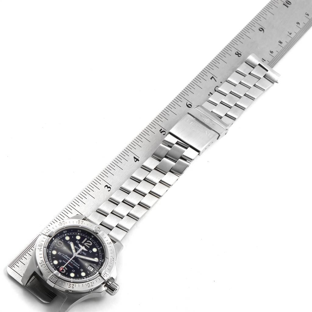Breitling Aeromarine Superocean Steelfish Black Dial Mens Watch A17390 SwissWatchExpo