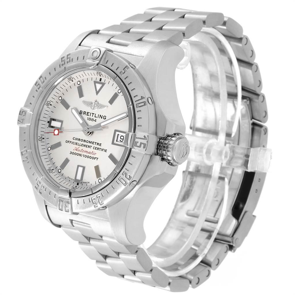 Breitling Aeromarine Avenger Seawolf Silver Dial Mens Watch A17330 SwissWatchExpo