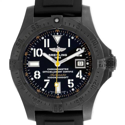 Photo of Breitling Avenger Seawolf Code Yellow Blacksteel LE Watch M17330 Box Papers