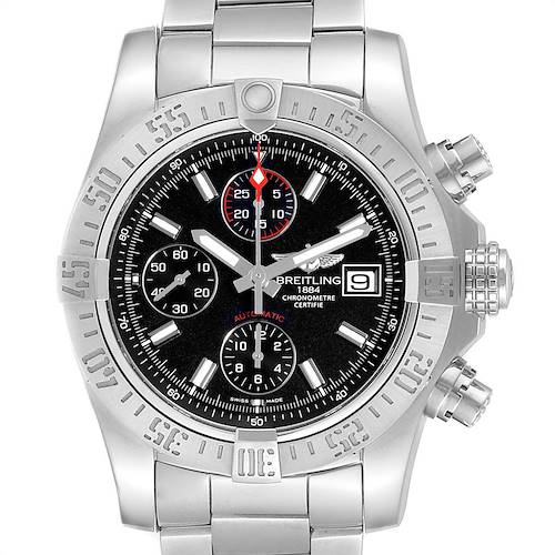 Photo of Breitling Avenger II Chronograph Black Dial Watch A13381 Card
