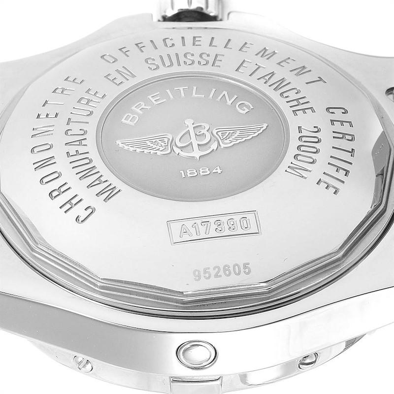 Breitling Aeromarine Superocean Steelfish Blue Dial Mens Watch A17390 SwissWatchExpo