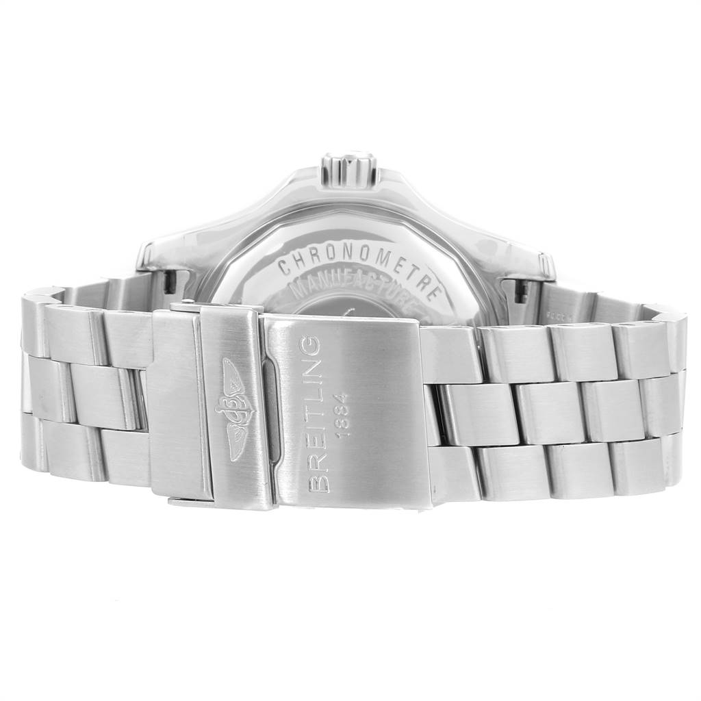 24092 Breitling Aeromarine Superocean Steelfish Silver Dial Mens Watch A17390 SwissWatchExpo