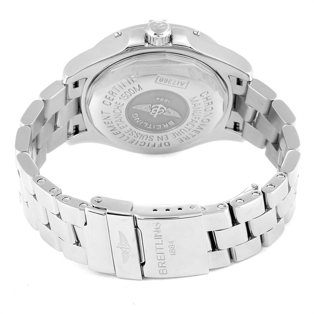 Breitling Superocean Steelfish Black Dial Steel Mens Watch A17360 SwissWatchExpo