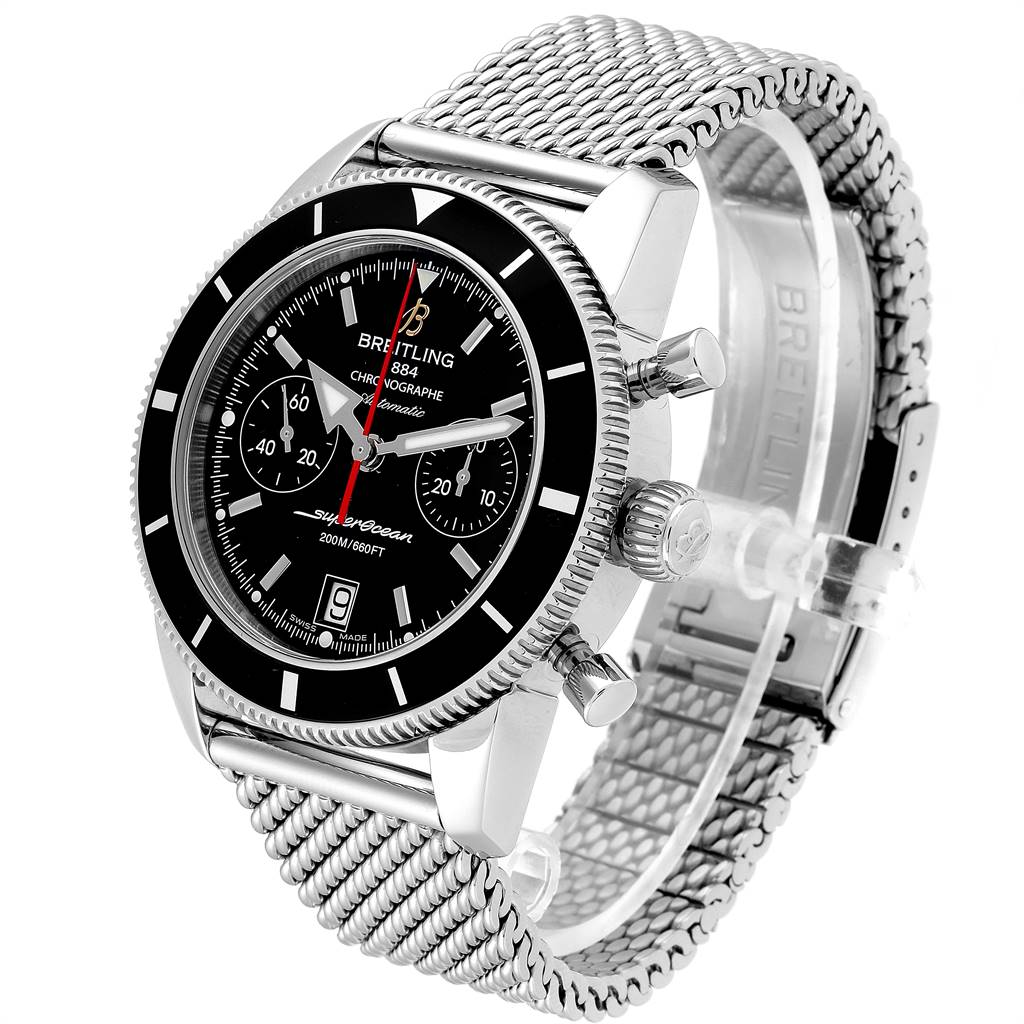 24856 Breitling SuperOcean Heritage Chrono Black Dial Watch A23370 Box Papers SwissWatchExpo