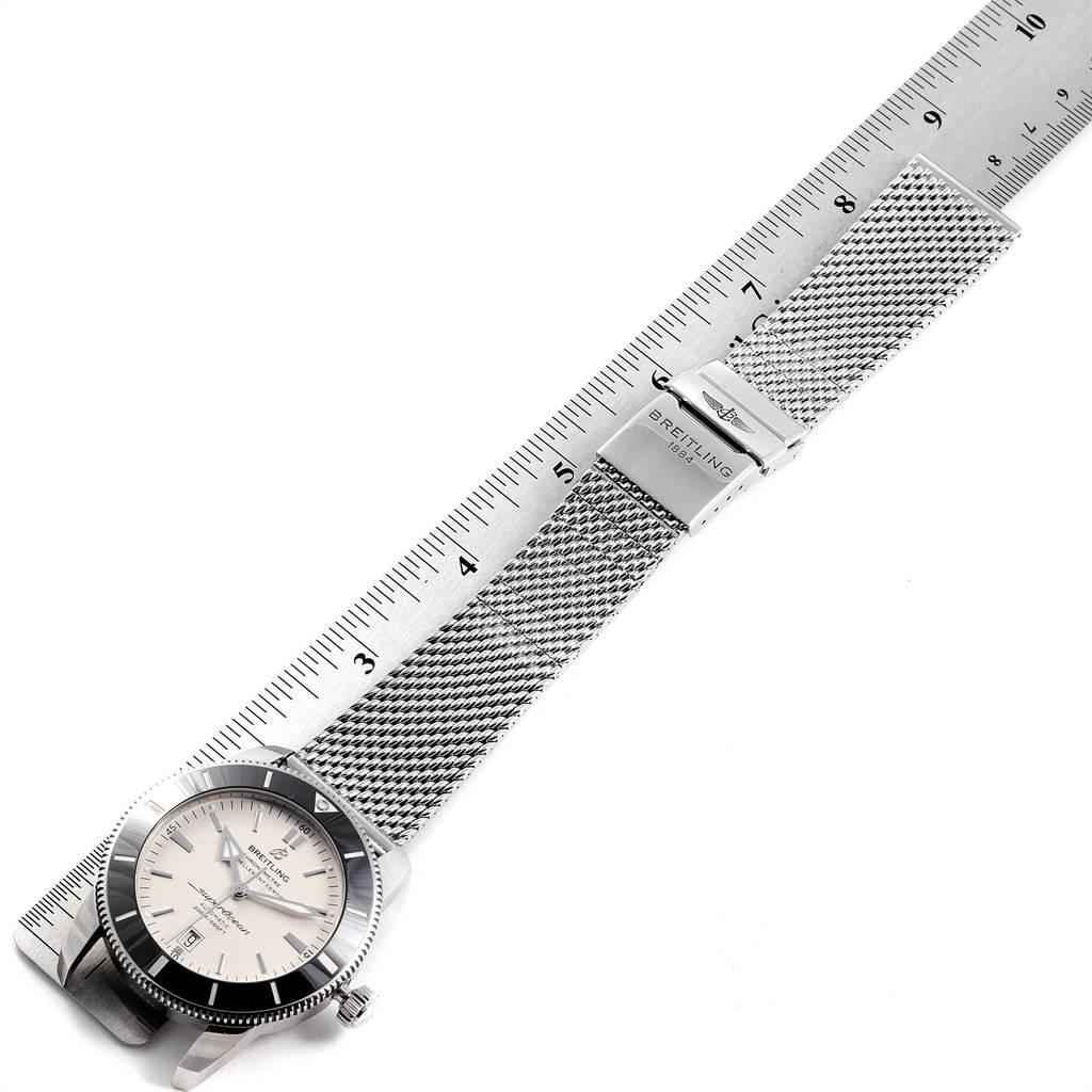 25049 Breitling Superocean Heritage 46 Mesh Bracelet Watch AB2020 Box Papers SwissWatchExpo