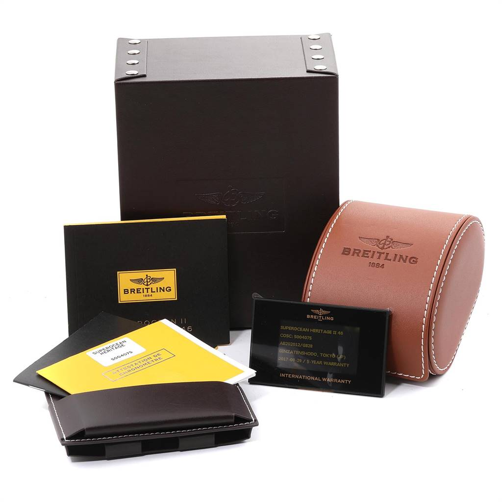Breitling Superocean Heritage 46 Mesh Bracelet Watch AB2020 Box Papers SwissWatchExpo