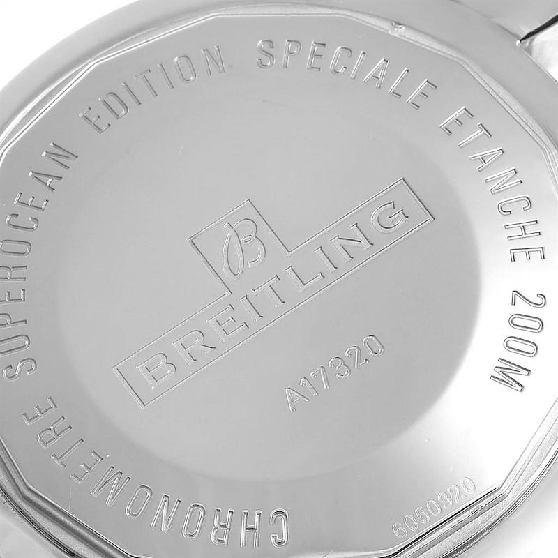 Breitling Superocean Heritage 46 Black Dial Steel Mens Watch A17320 SwissWatchExpo