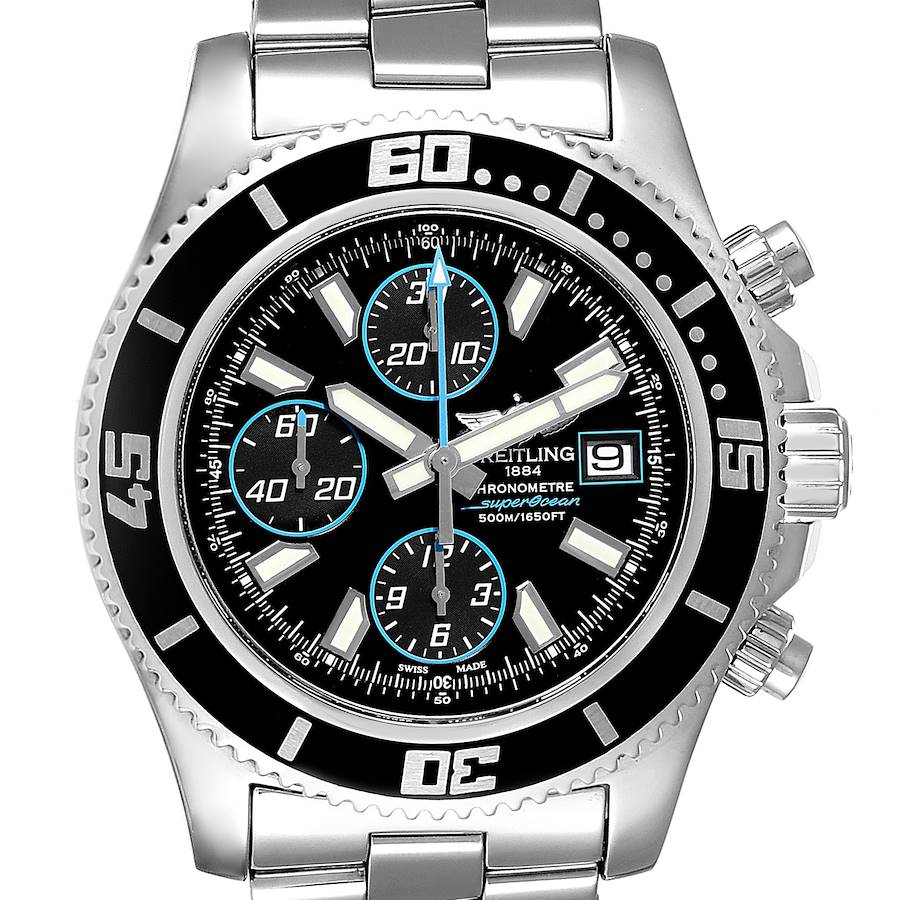 Breitling SuperOcean Chronograph II Blue Abyss Dial Mens Watch A13341 SwissWatchExpo